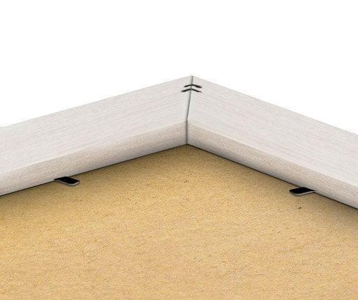 Rückseite des Rahmens in Silberr-Optik