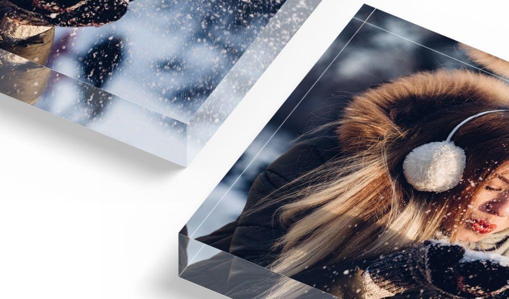 blocco acrilico con foto riflessione