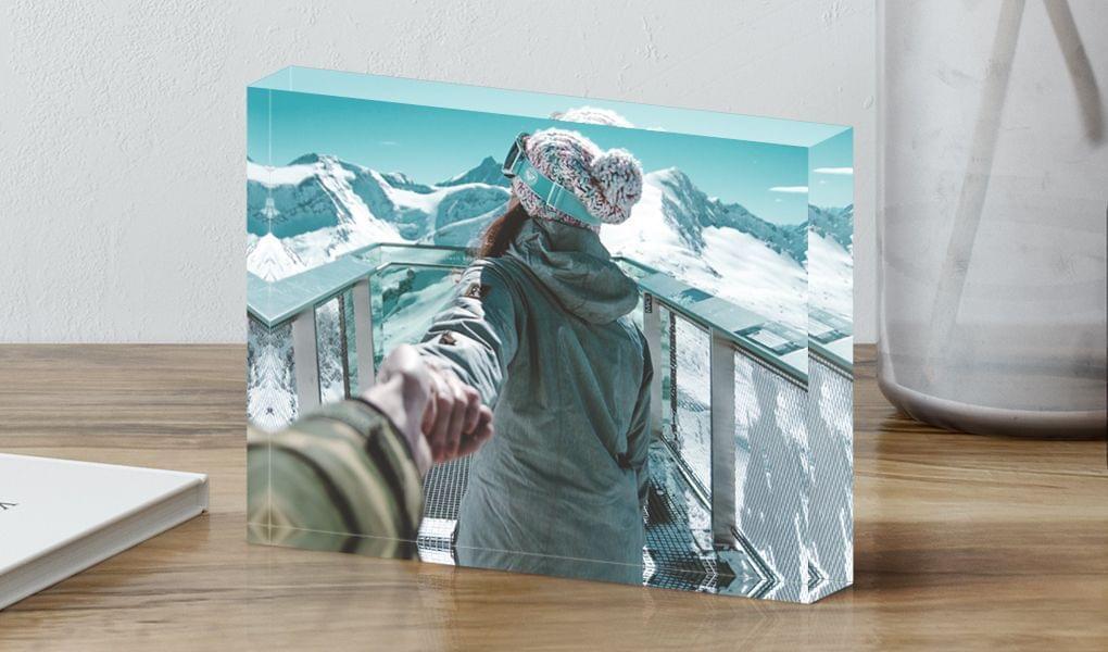 blocco di acrilico con foto