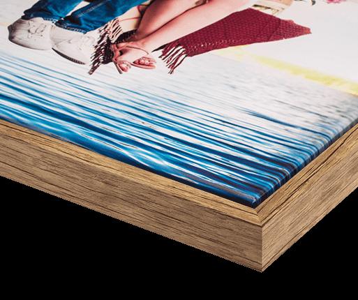 cornici per foto Color quercia antico dettaglio anteriore
