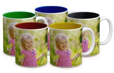 tazze colorate con foto